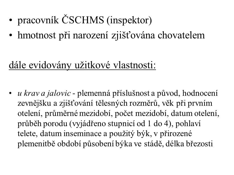 pracovník ČSCHMS (inspektor)