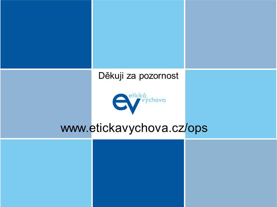 Děkuji za pozornost www.etickavychova.cz/ops