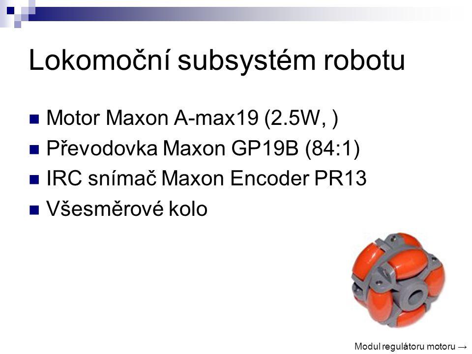 Lokomoční subsystém robotu