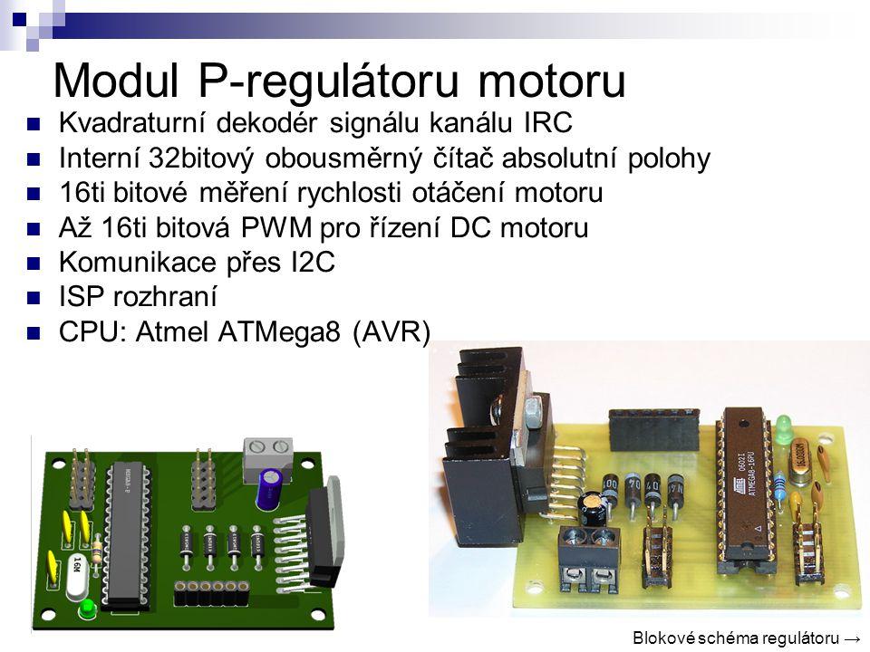 Modul P-regulátoru motoru