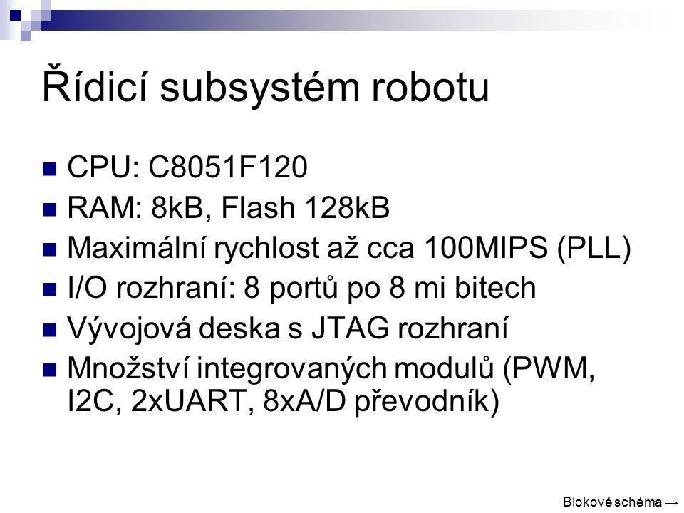 Řídicí subsystém robotu