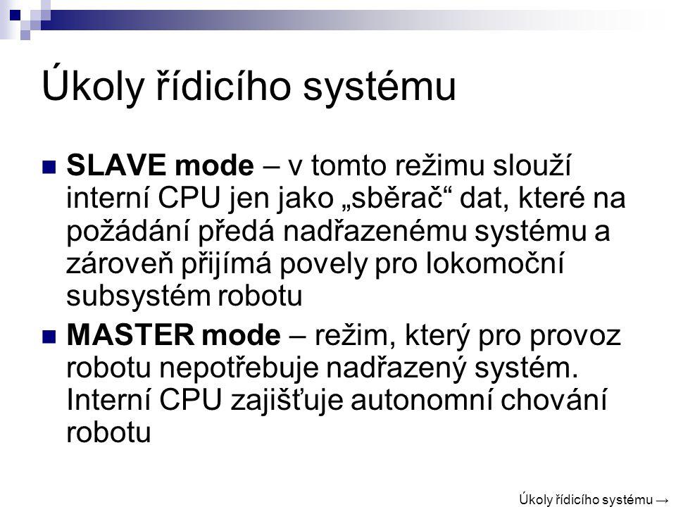 Úkoly řídicího systému