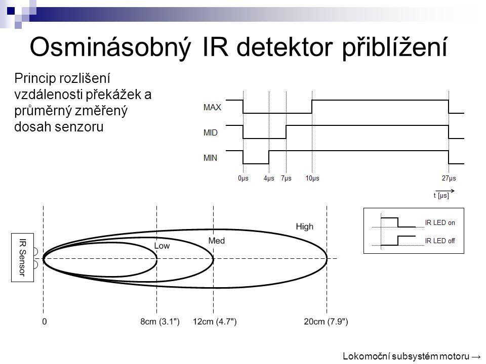 Osminásobný IR detektor přiblížení