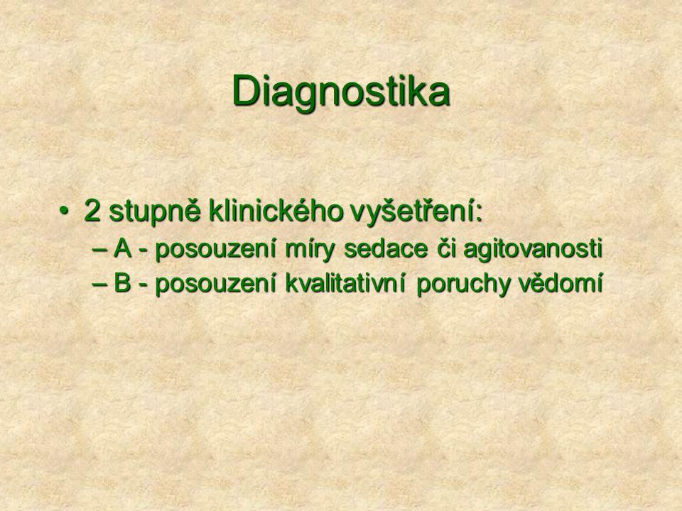 Diagnostika 2 stupně klinického vyšetření: