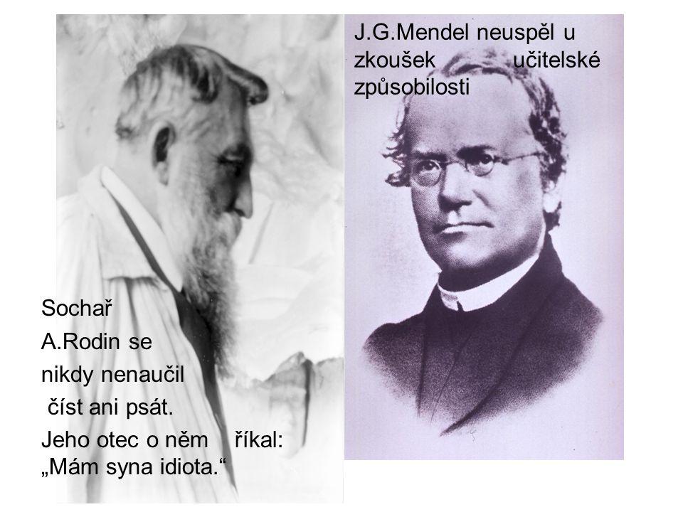 J.G.Mendel neuspěl u zkoušek učitelské způsobilosti