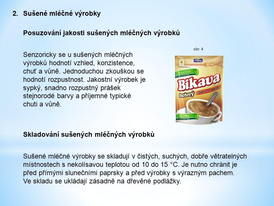 Posuzování jakosti sušených mléčných výrobků