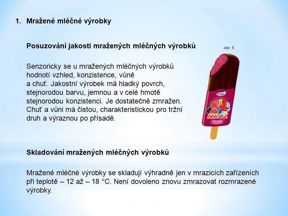 1. Mražené mléčné výrobky