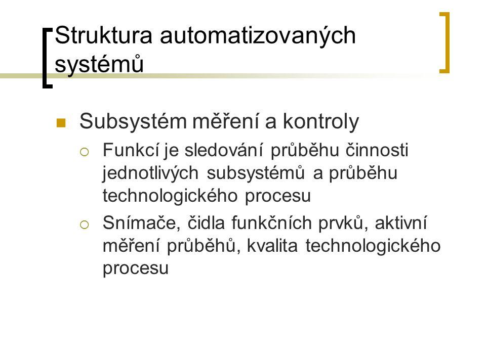 Struktura automatizovaných systémů