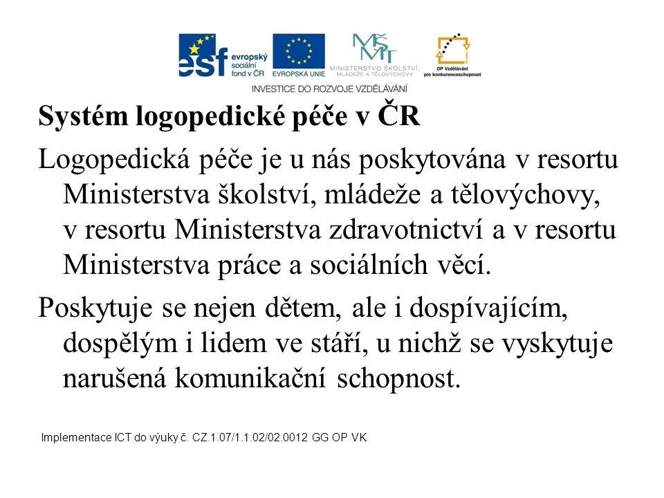Systém logopedické péče v ČR