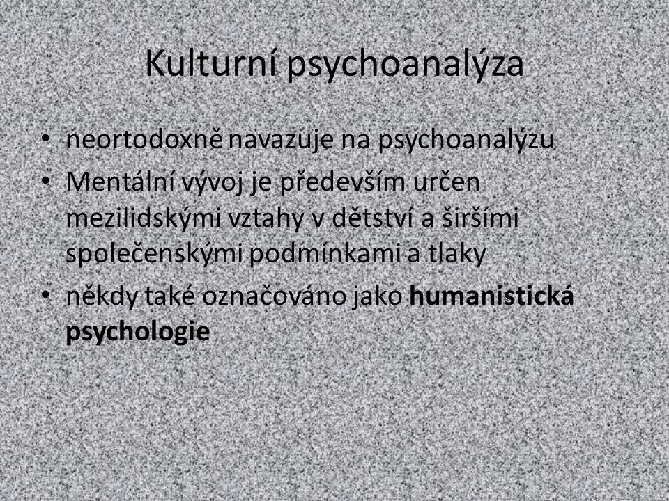 Kulturní psychoanalýza