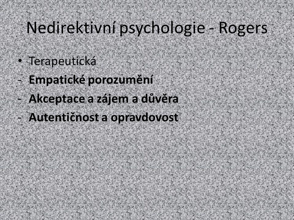 Nedirektivní psychologie - Rogers
