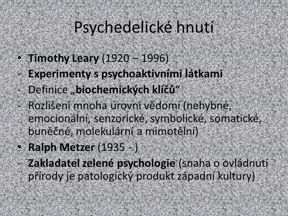 Psychedelické hnutí Timothy Leary (1920 – 1996)