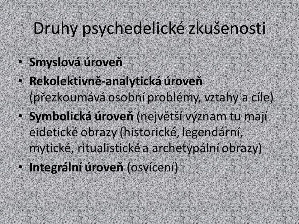 Druhy psychedelické zkušenosti