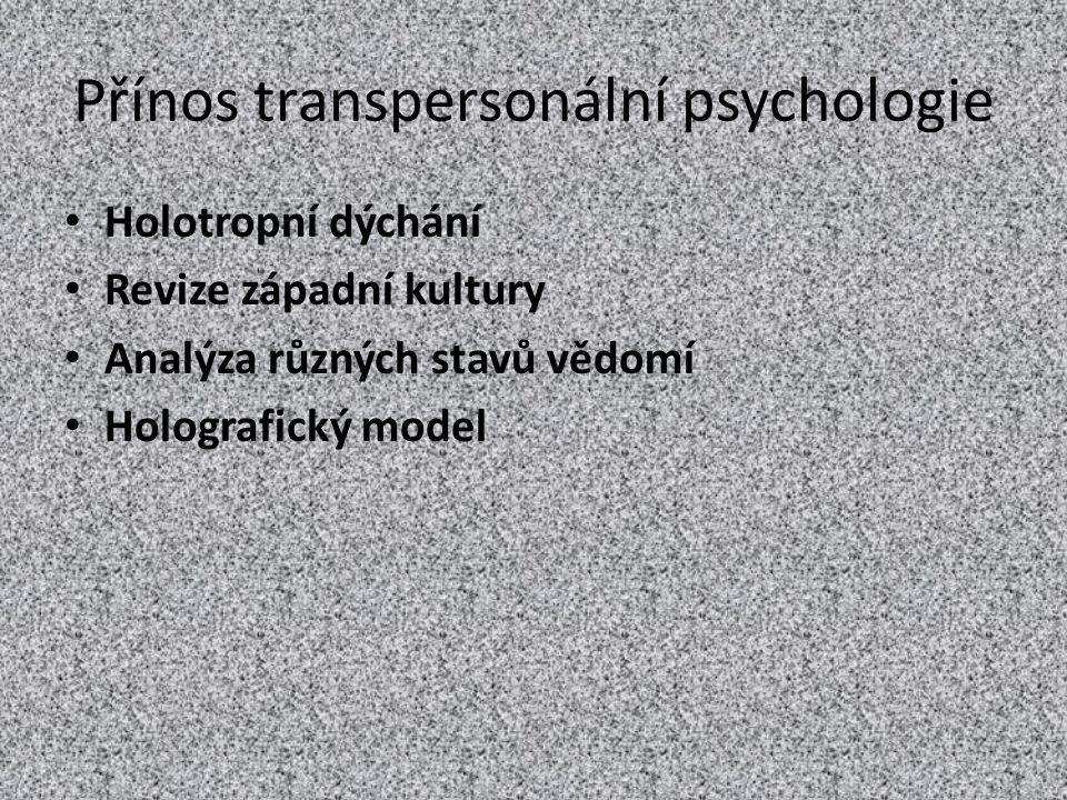 Přínos transpersonální psychologie
