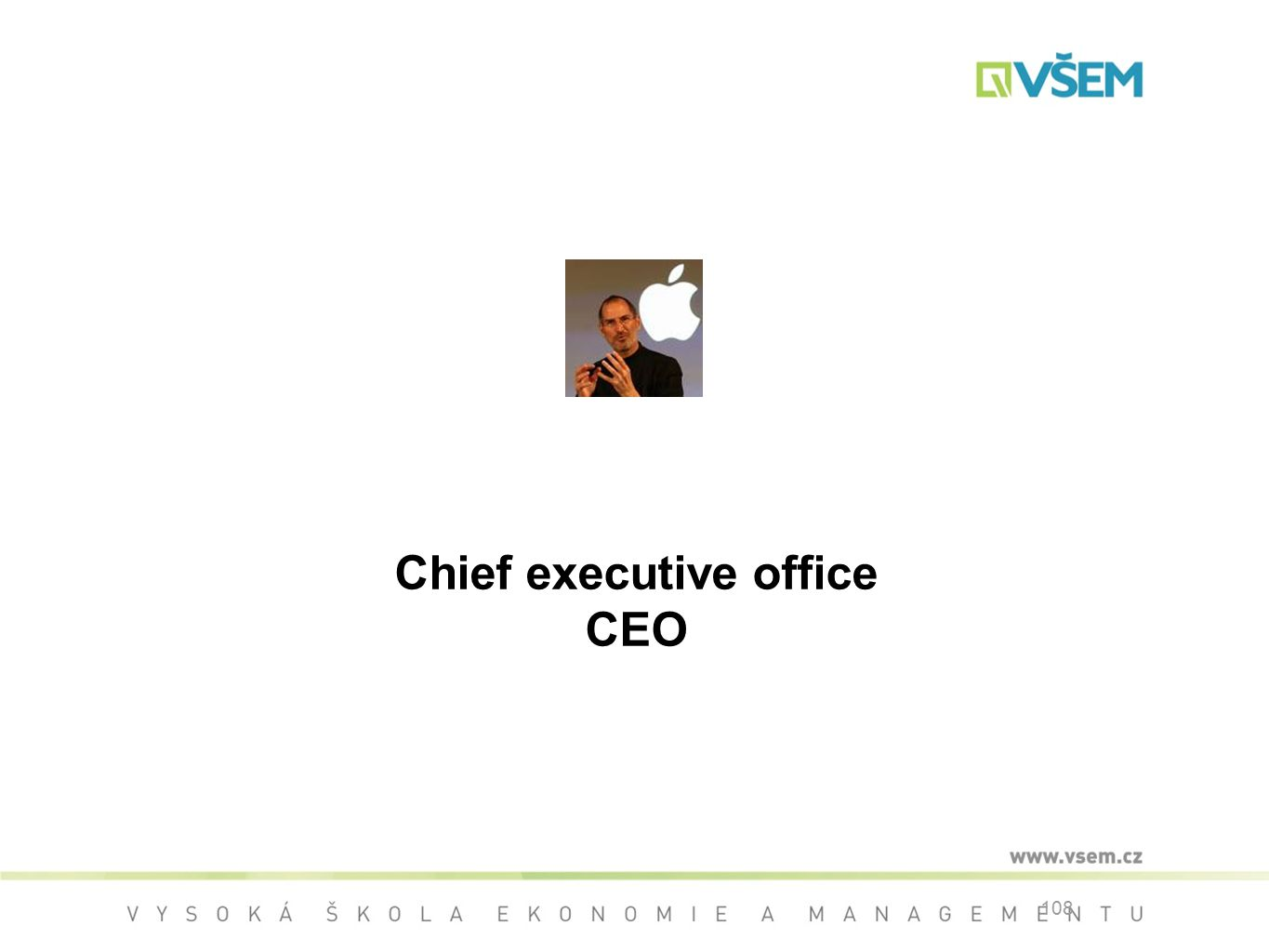Chief executive office CEO