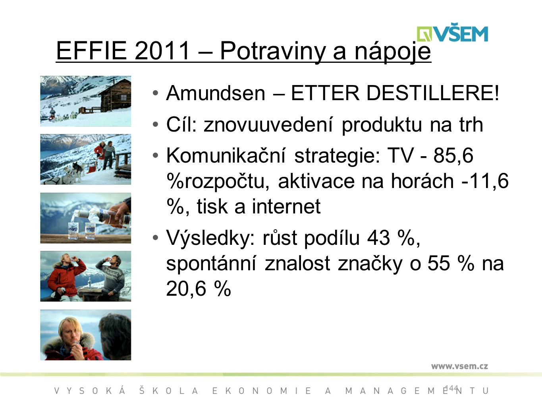 EFFIE 2011 – Potraviny a nápoje