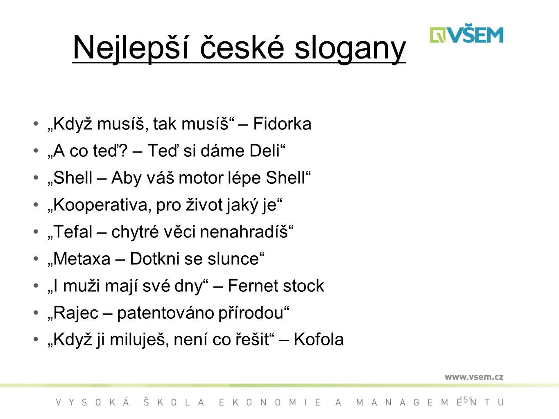 Nejlepší české slogany