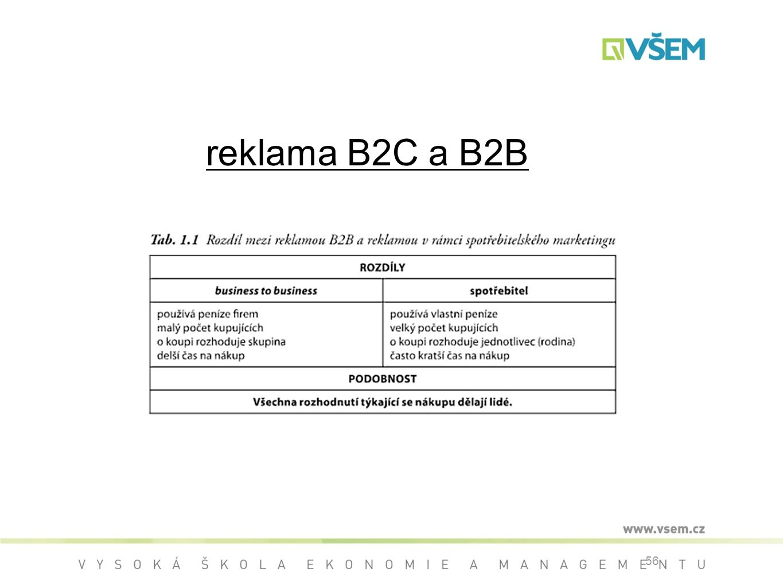 reklama B2C a B2B