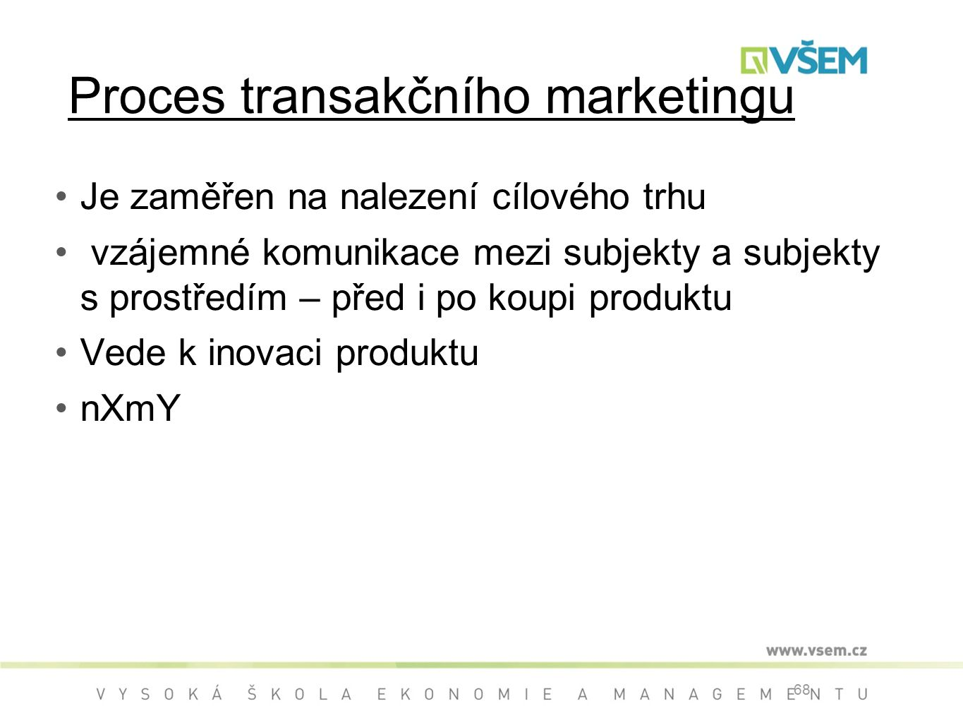 Proces transakčního marketingu