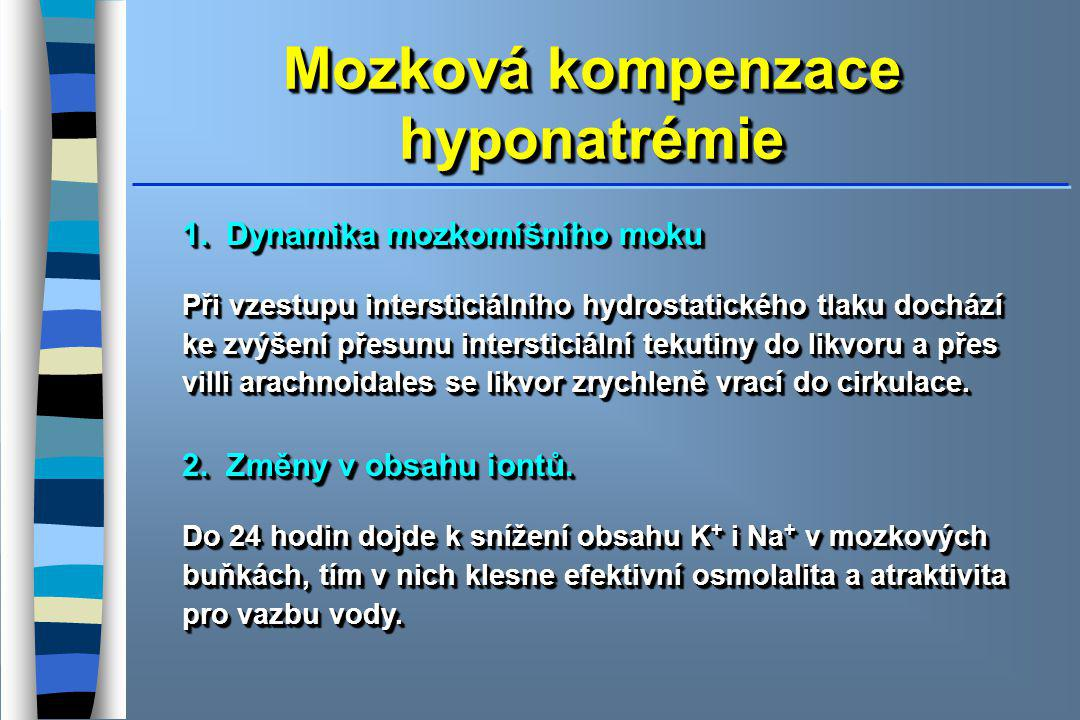 Mozková kompenzace hyponatrémie
