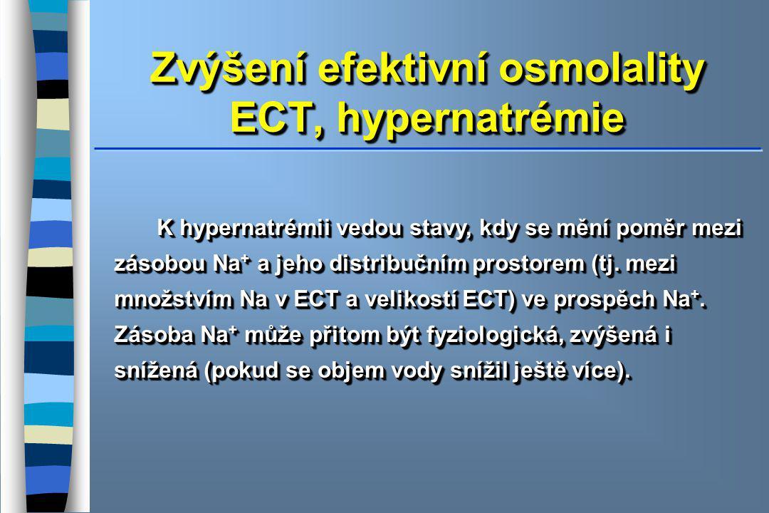 Zvýšení efektivní osmolality ECT, hypernatrémie