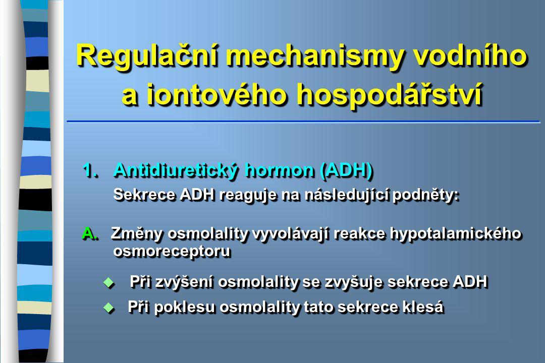 Regulační mechanismy vodního a iontového hospodářství
