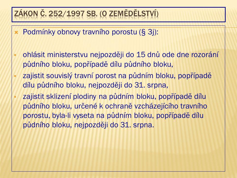 Zákon č. 252/1997 Sb. (o zemědělství)