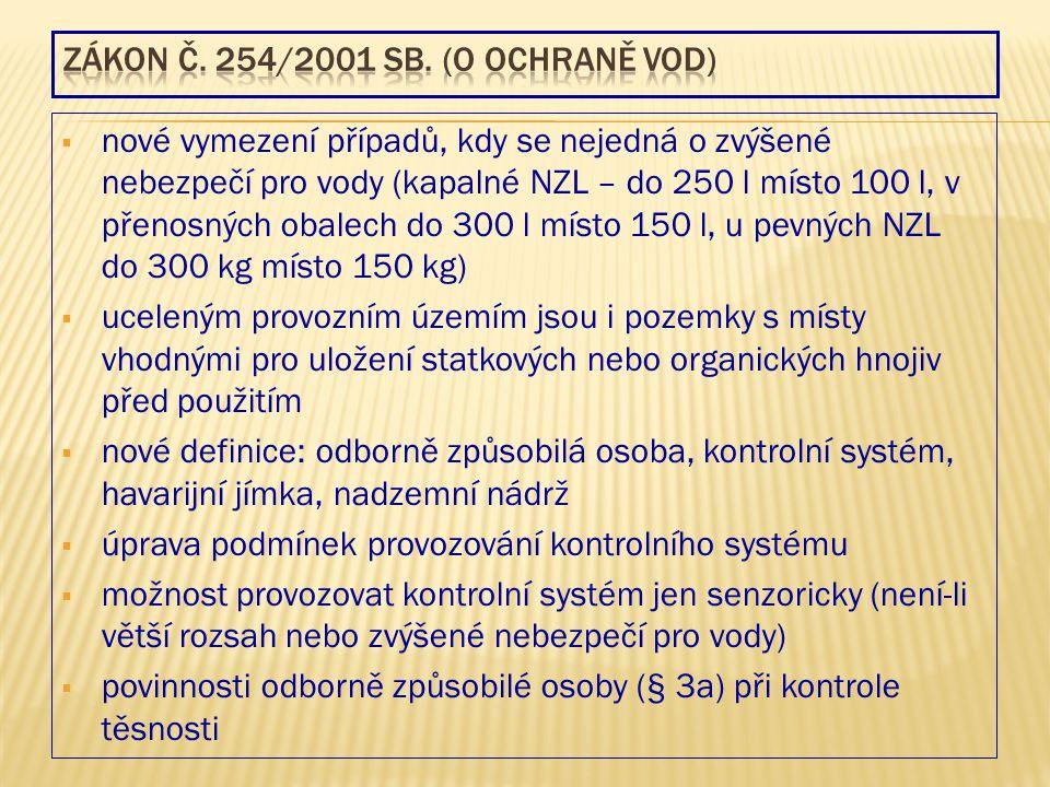 Zákon č. 254/2001 Sb. (o ochraně vod)