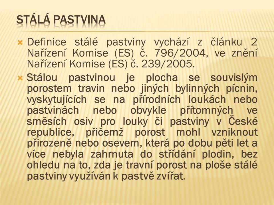 Stálá pastvina Definice stálé pastviny vychází z článku 2 Nařízení Komise (ES) č. 796/2004, ve znění Nařízení Komise (ES) č. 239/2005.