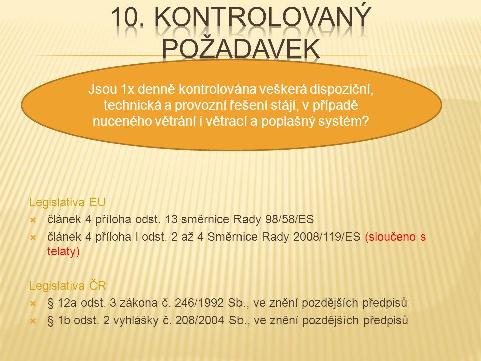 10. kontrolovaný požadavek
