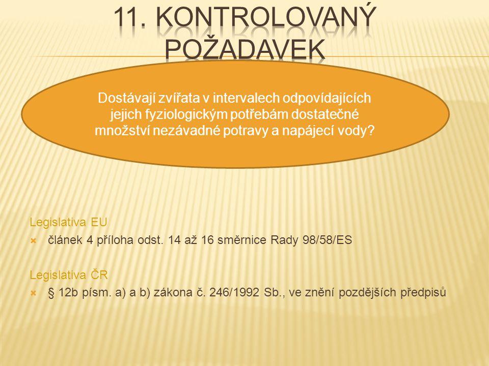 11. kontrolovaný požadavek