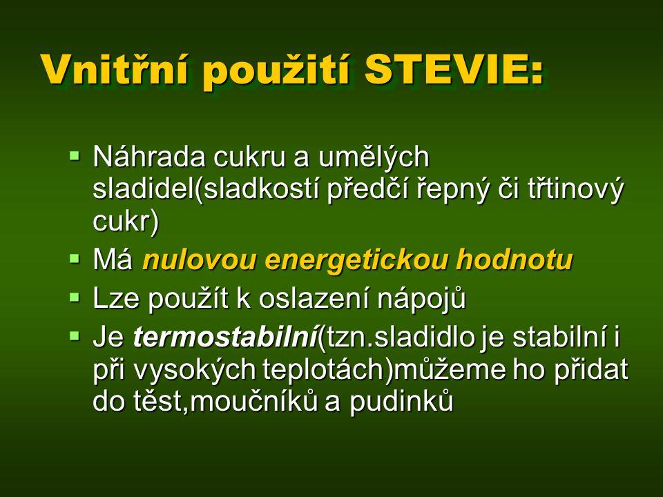 Vnitřní použití STEVIE:
