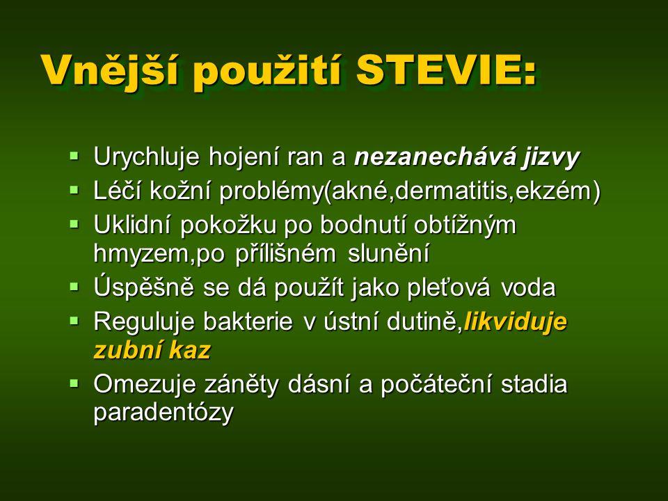 Vnější použití STEVIE: