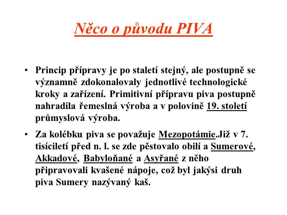 Něco o původu PIVA