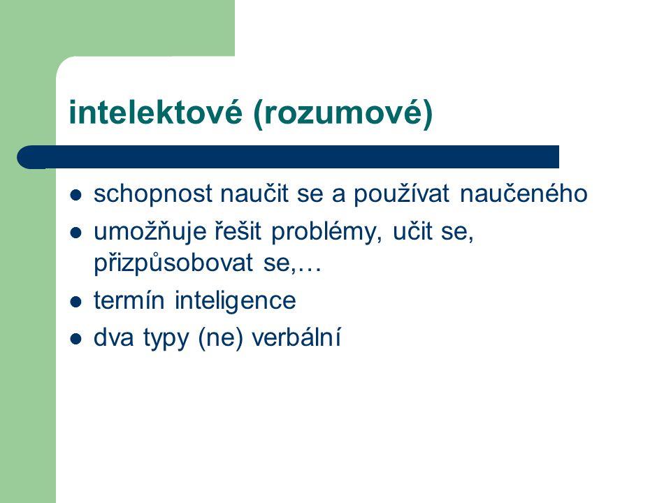 intelektové (rozumové)