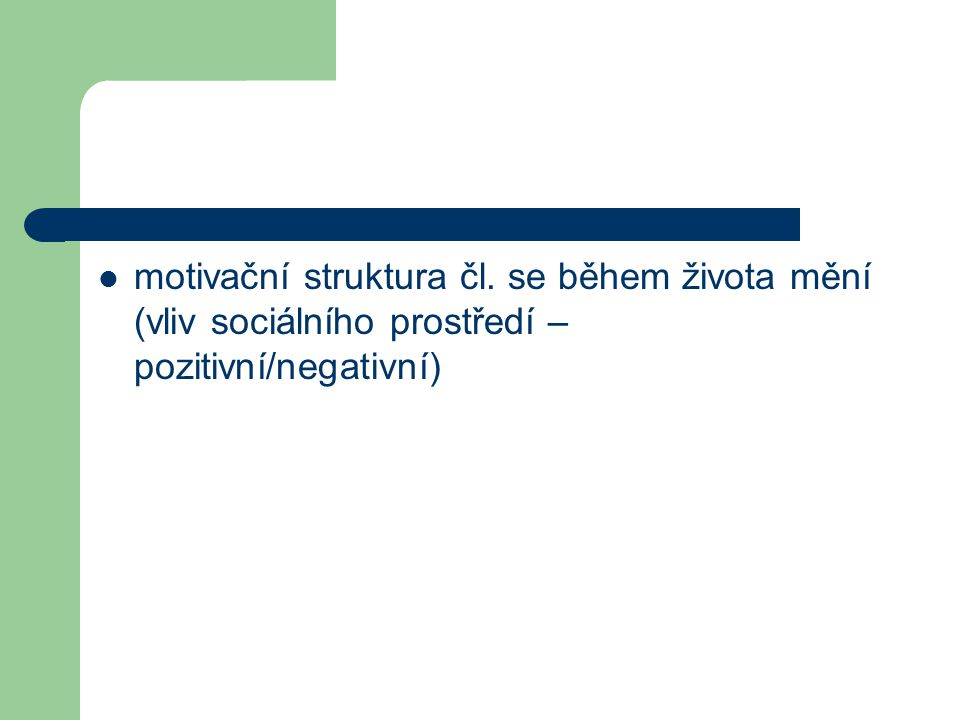 motivační struktura čl