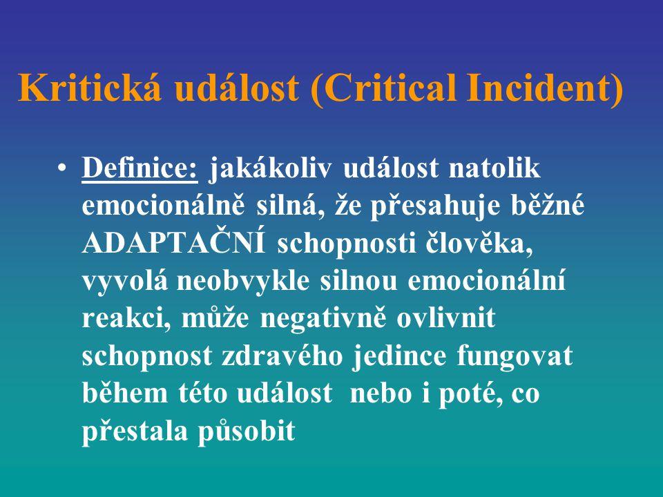 Kritická událost (Critical Incident)