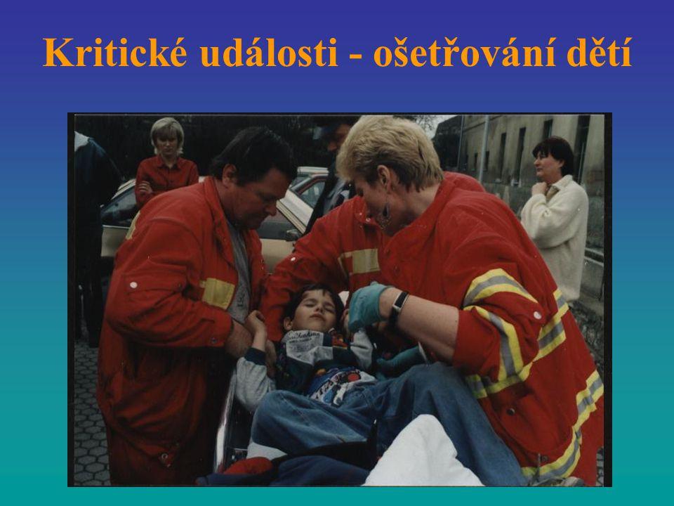 Kritické události - ošetřování dětí