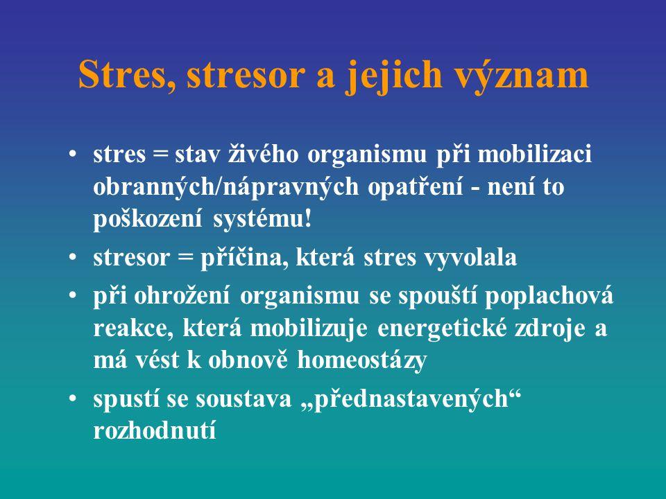 Stres, stresor a jejich význam
