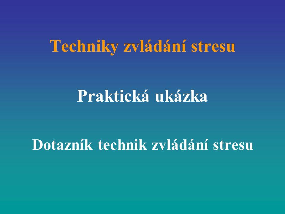 Techniky zvládání stresu