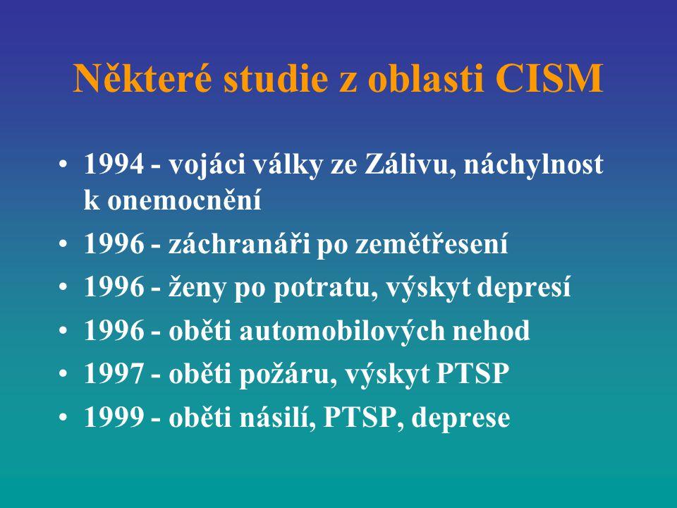 Některé studie z oblasti CISM