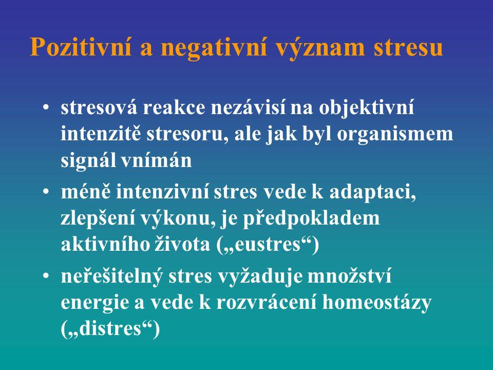 Pozitivní a negativní význam stresu