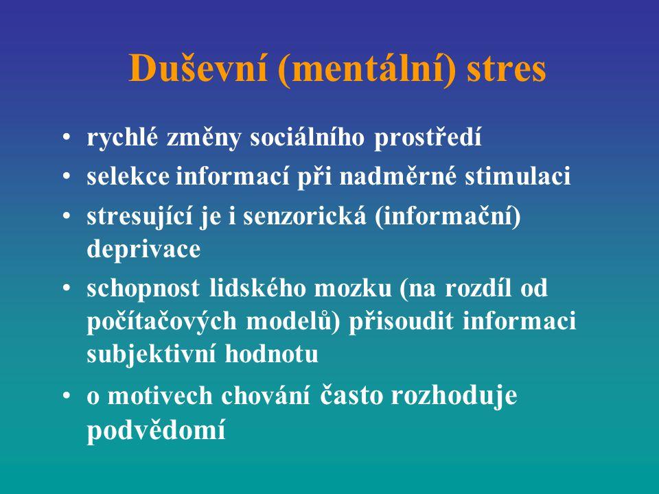 Duševní (mentální) stres