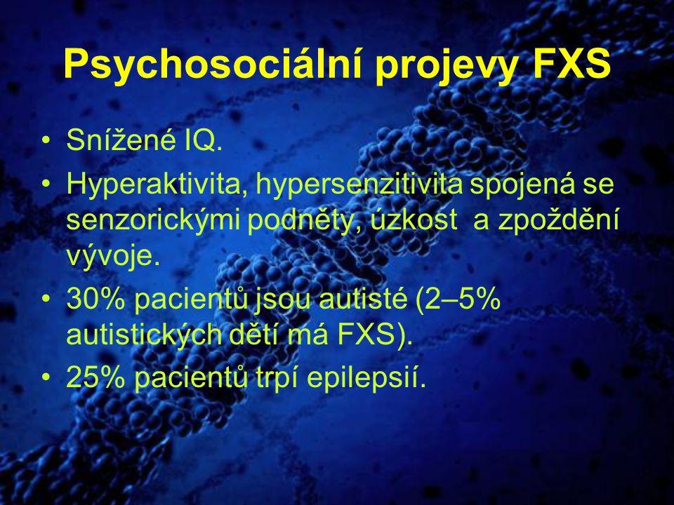 Psychosociální projevy FXS