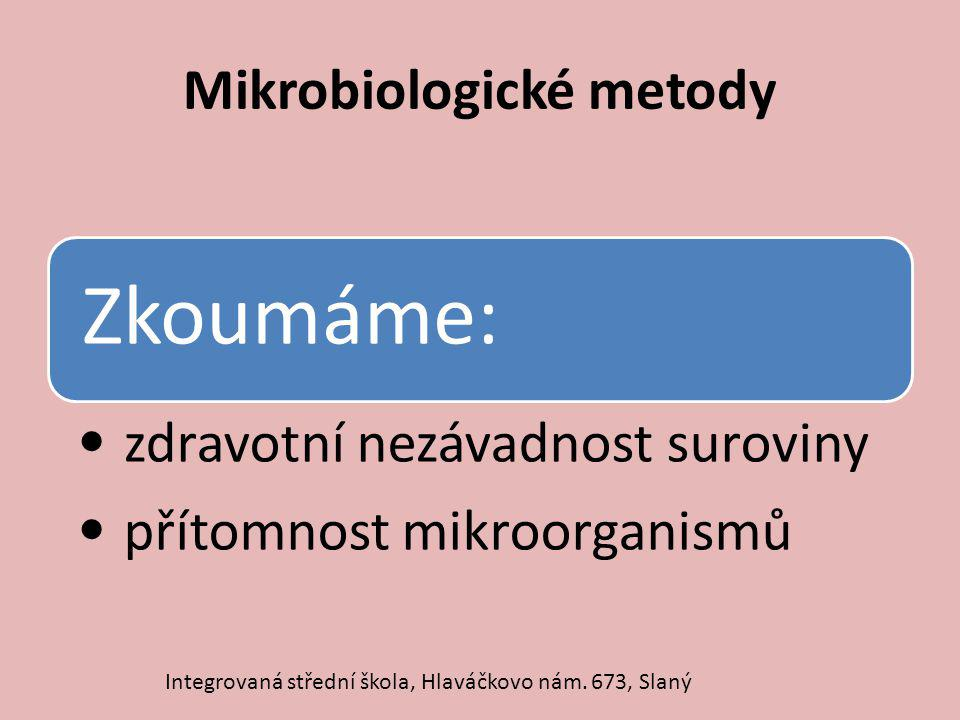 Mikrobiologické metody