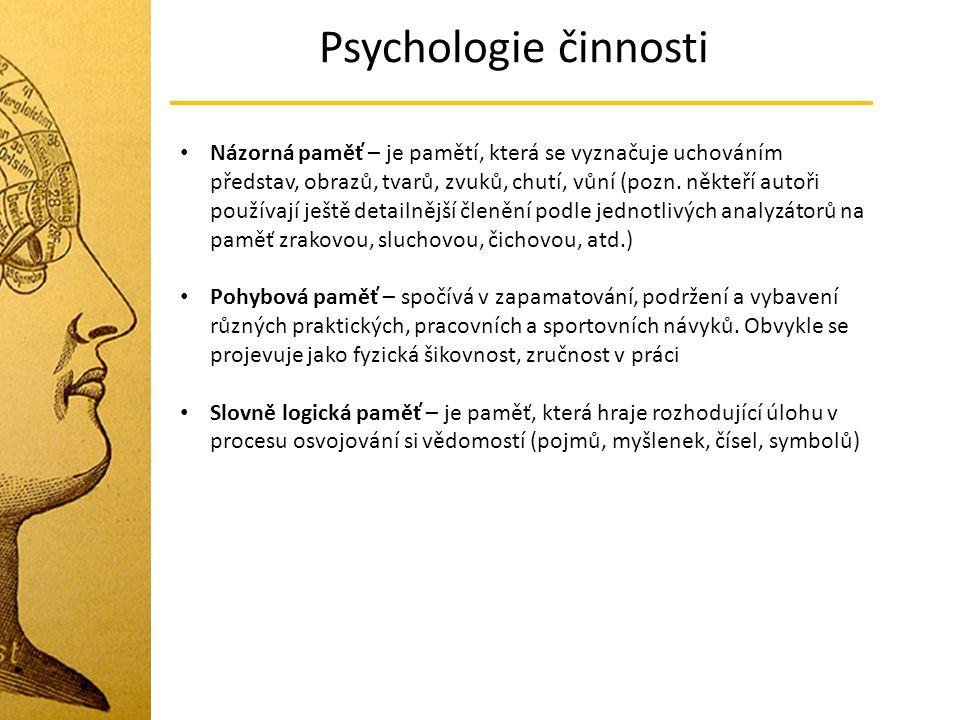 Psychologie činnosti