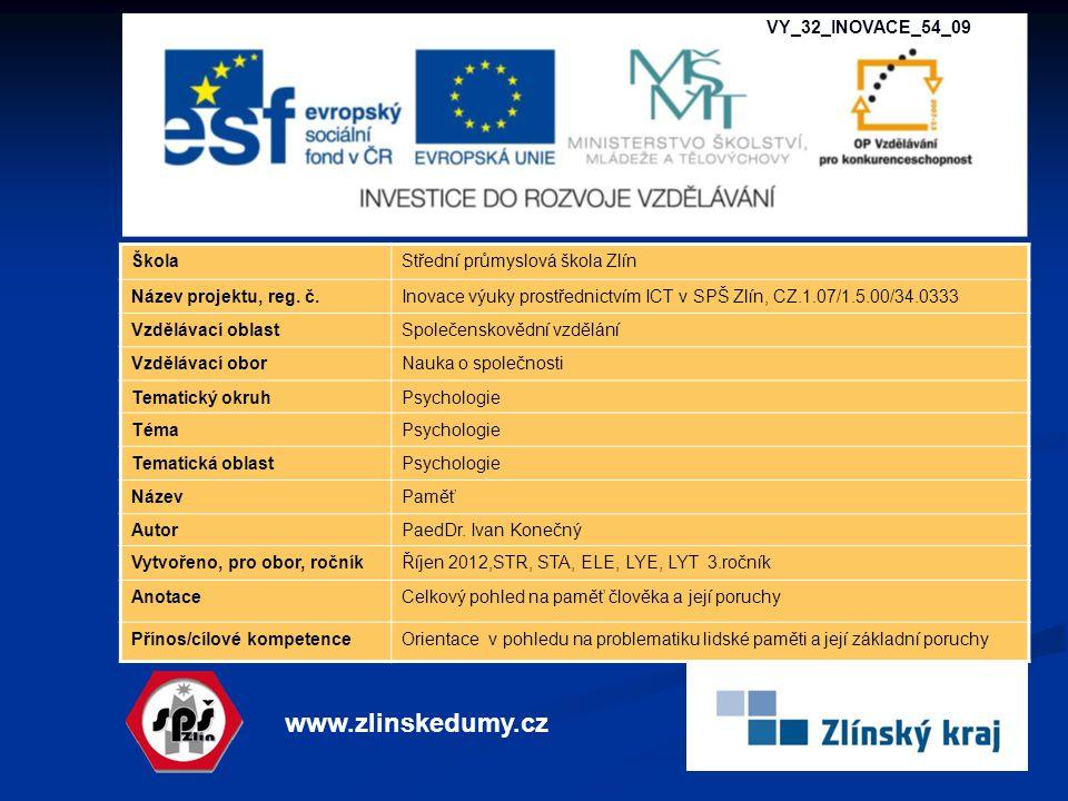 www.zlinskedumy.cz VY_32_INOVACE_54_09 Škola