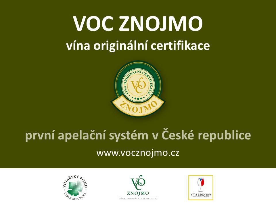 VOC ZNOJMO vína originální certifikace