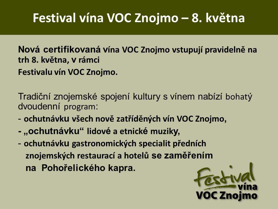 Festival vína VOC Znojmo – 8. května