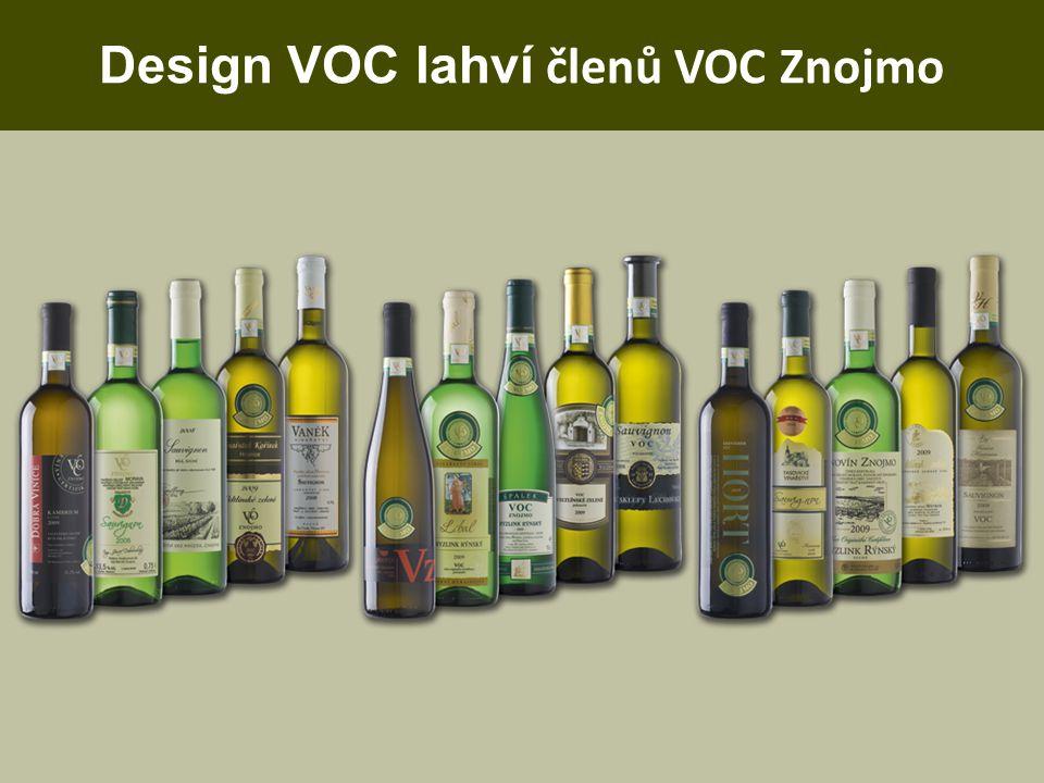 Design VOC lahví členů VOC Znojmo